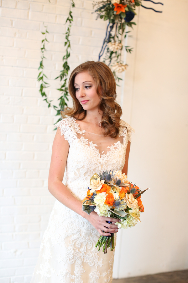 Blue and Orange Wedding Inspiration by Heather Michelle Photography