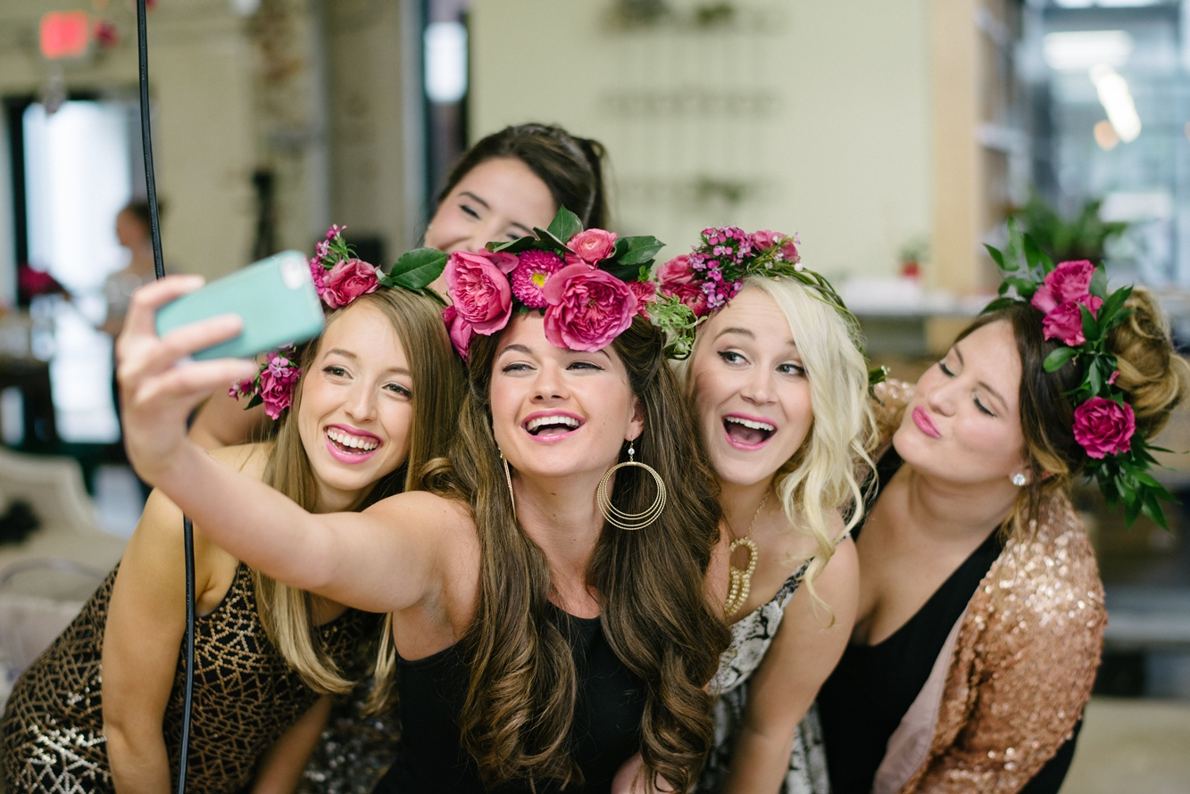 Selfies at Hilton Head Bachelorette Party Shoot