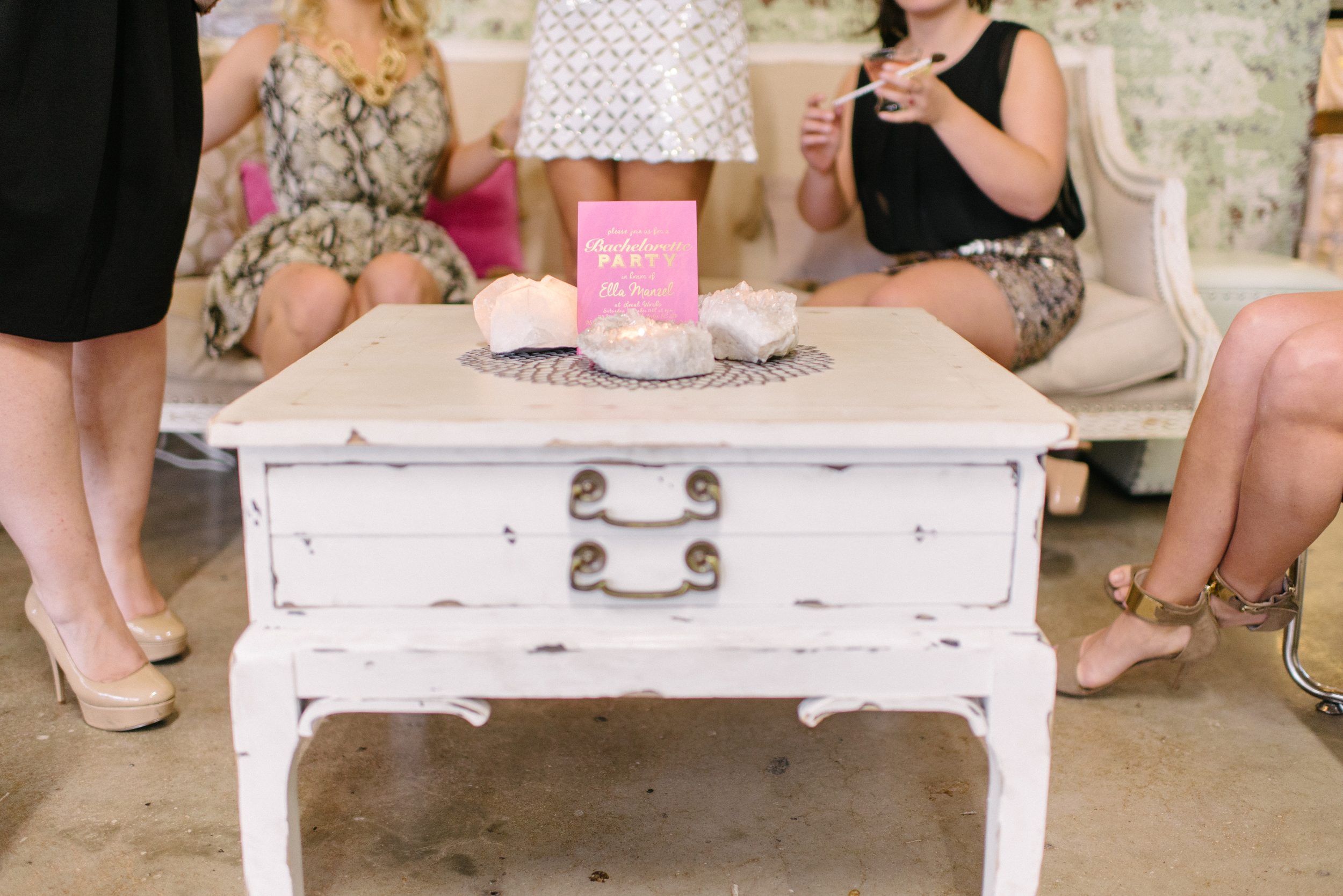 Bachelorette Party Shoo by Party.Love.Birds., Modern Magnolias and Sean Money + Elizabeth Fay