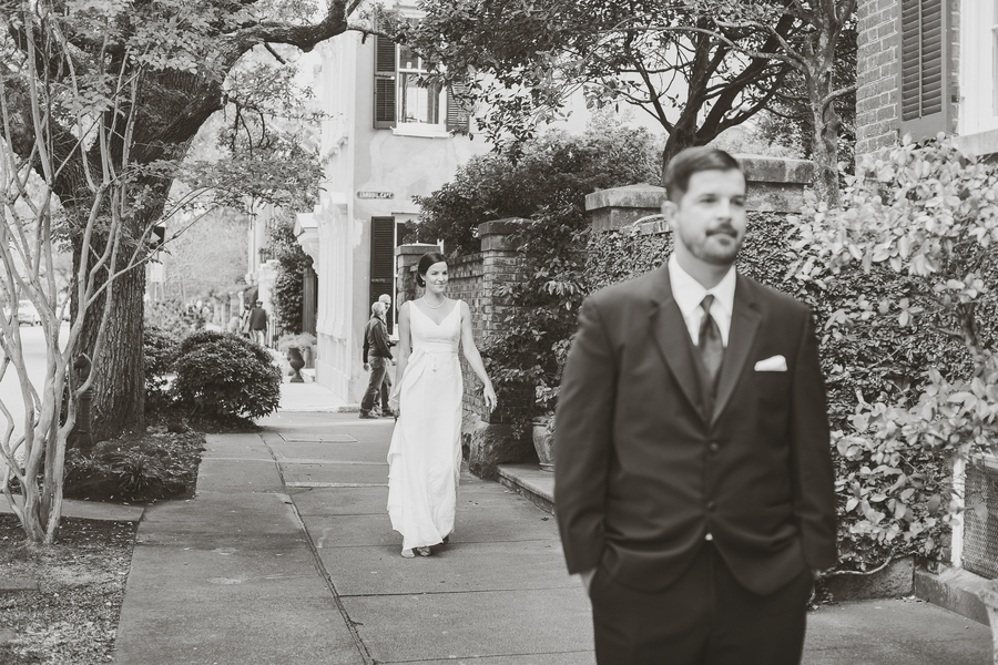 First Look at White Point Gardens wedding