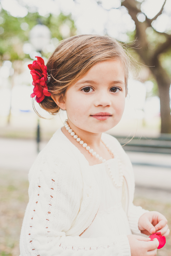 Flower girl at Charleston wedding