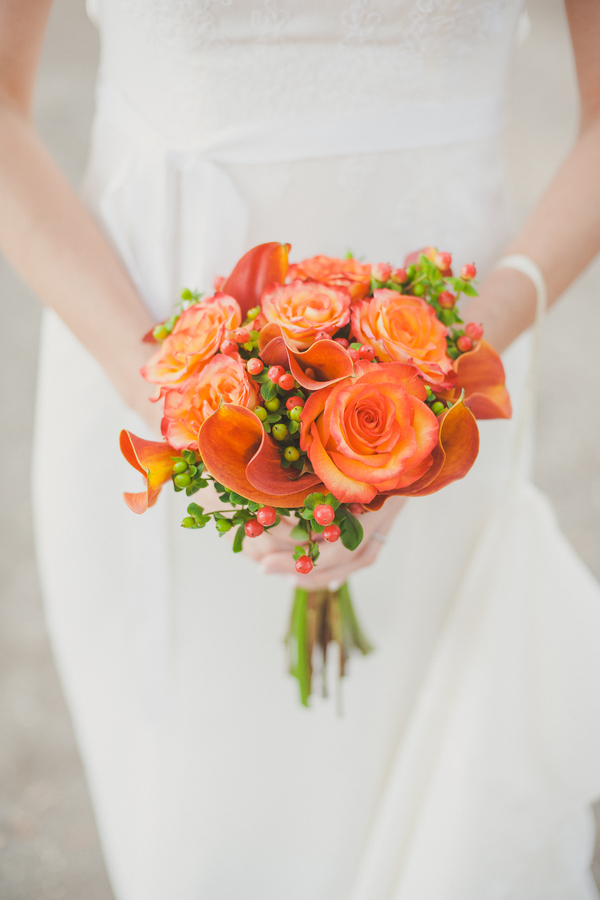Orange Rose and Calla Lily Bouquet
