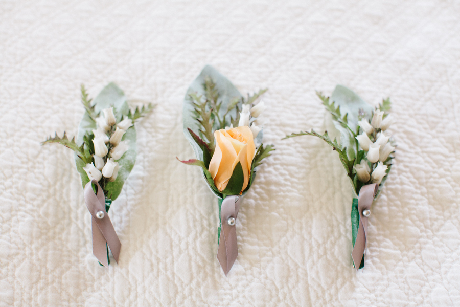 Charleston wedding boutonnieres