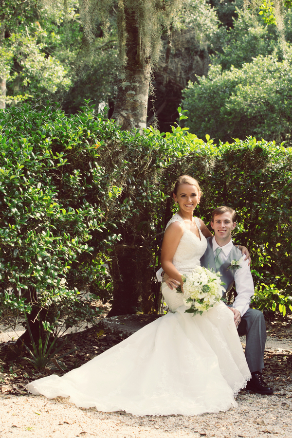 Rustic Charleston wedding with burlap details