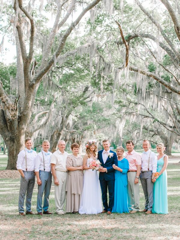 Bridal Party at Litchfield Plantation