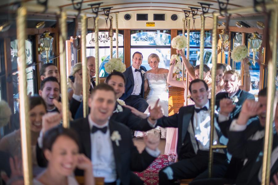 Charleston Wedding Trolley Ride