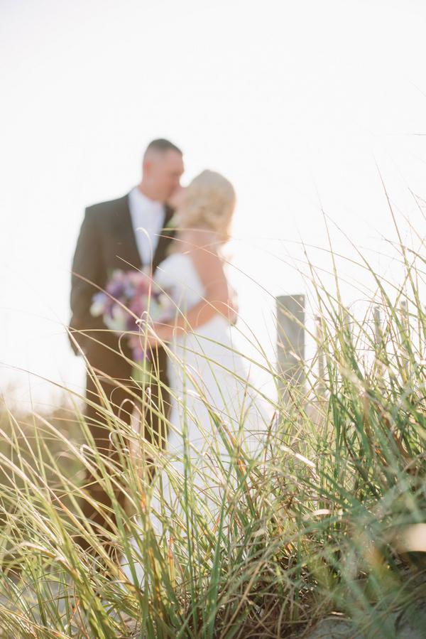 Purple Charleston Beach wedding