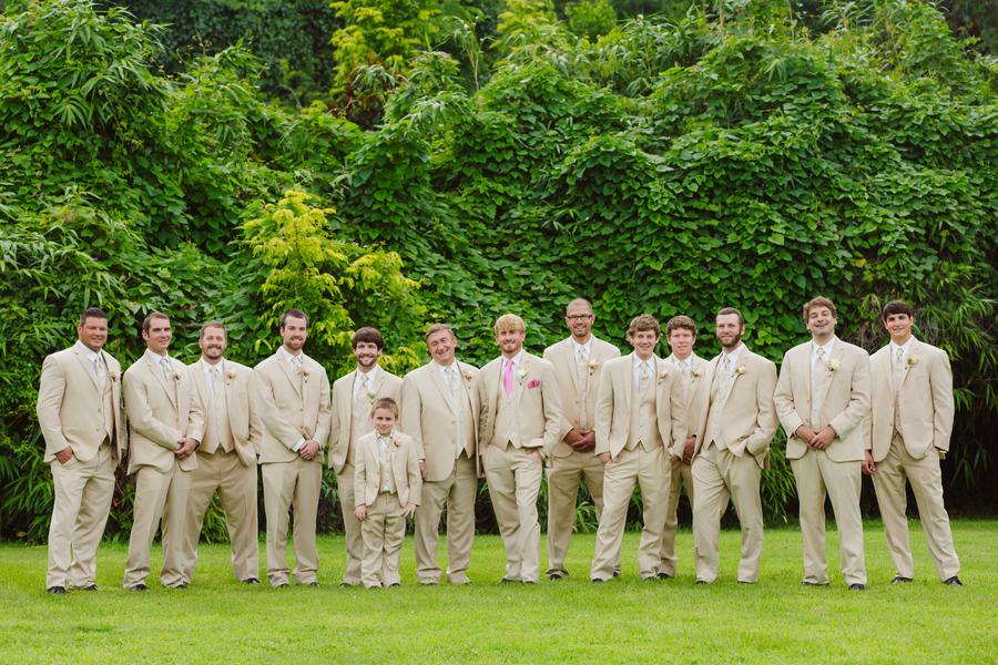Groomsmen in Tan Suits