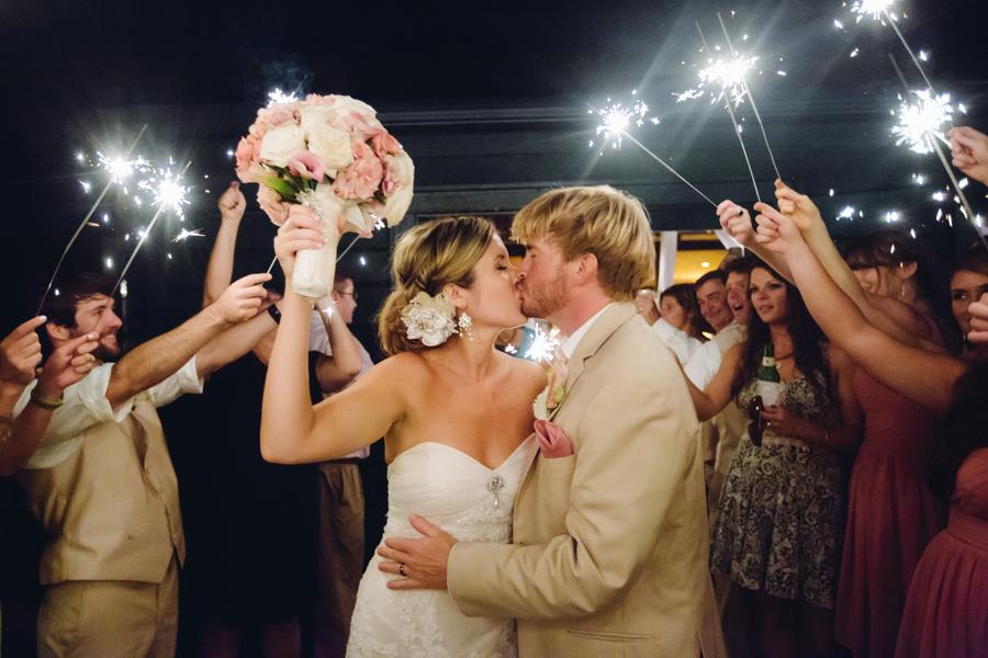 Charleston wedding sparkler exit