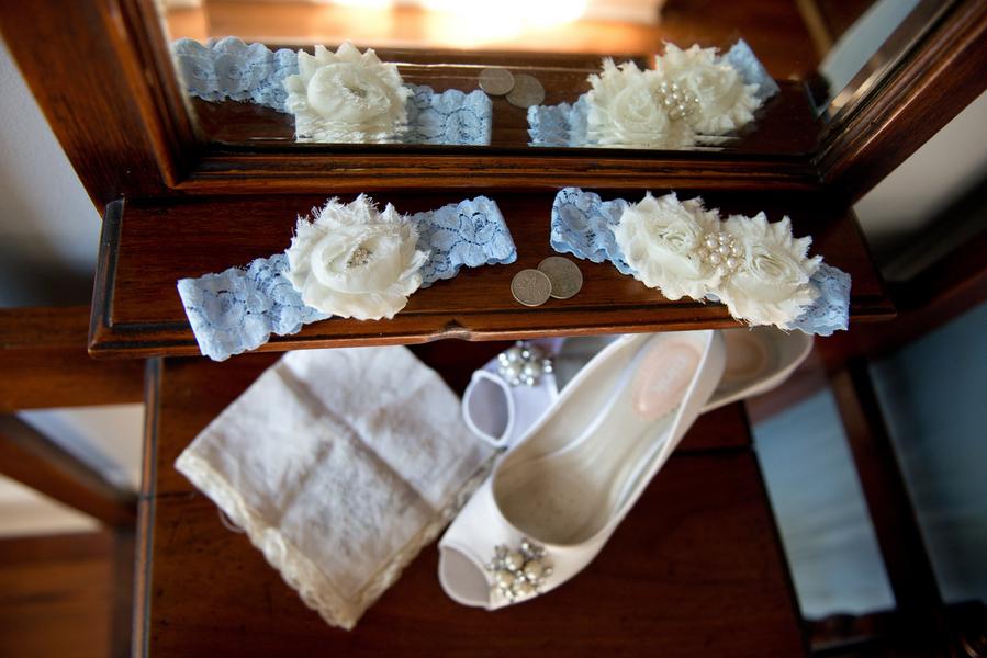 Light Blue Wedding Garter