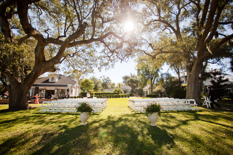 Lowndes Grove wedding ceremony