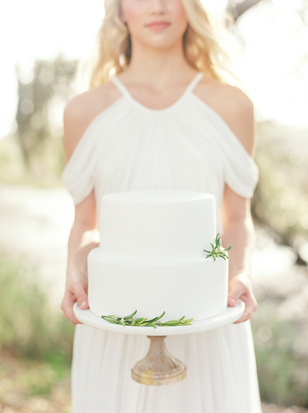 Natural Charleston wedding cake