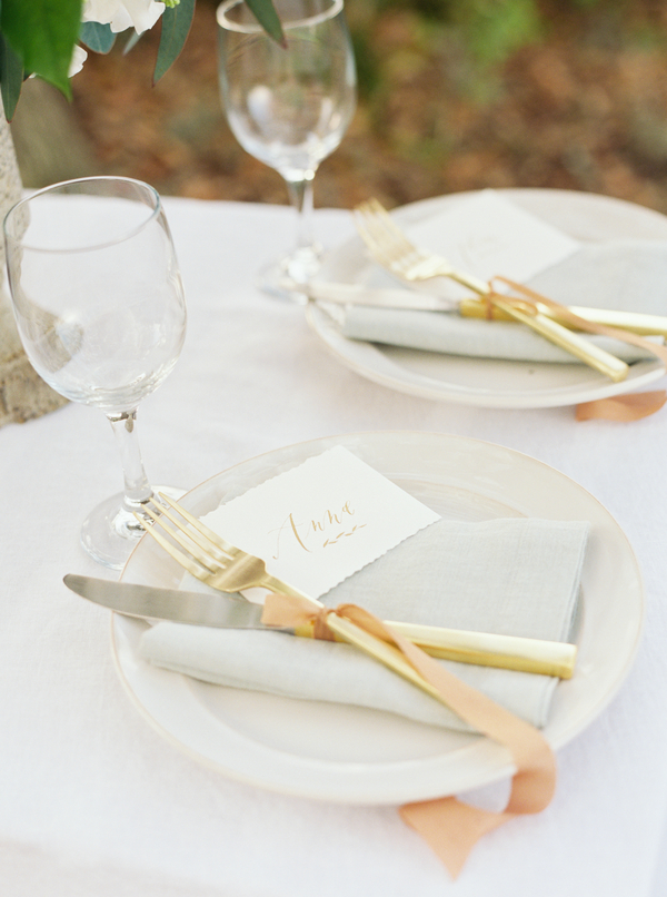 Charleston wedding table setting