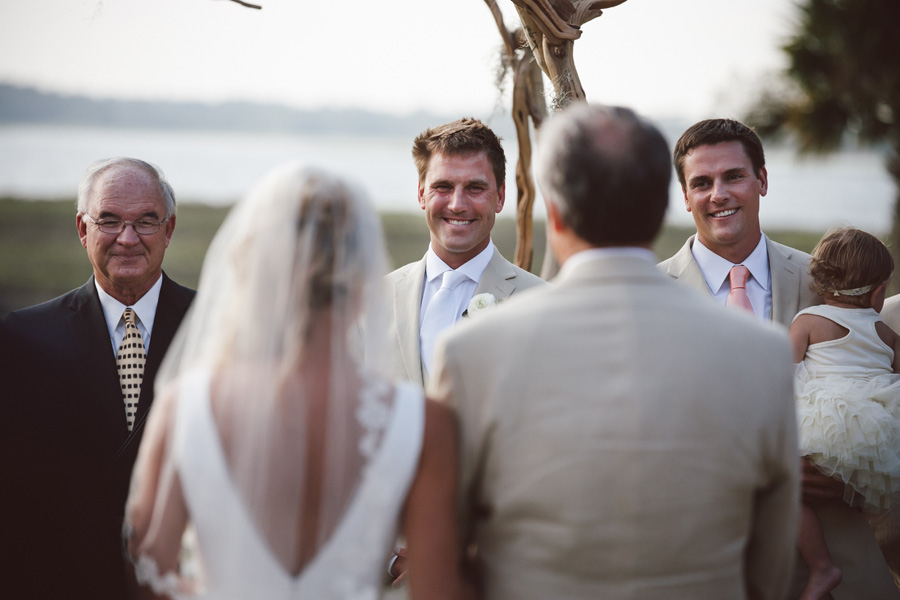 Groom Seeing his Bride at The Ceremony