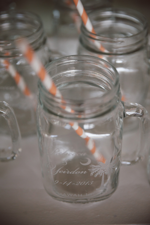 Mason Jars at Kiawah Wedding