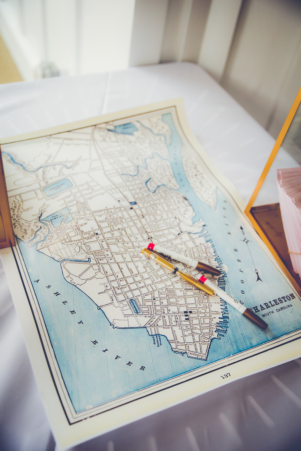 Charleston Wedding Map Guest Book