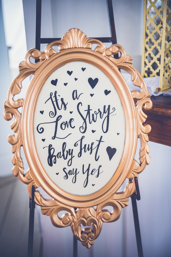 Gold Wedding Sign