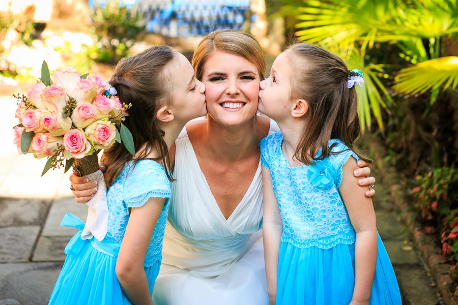 Bright Blue Flower girl Dresses