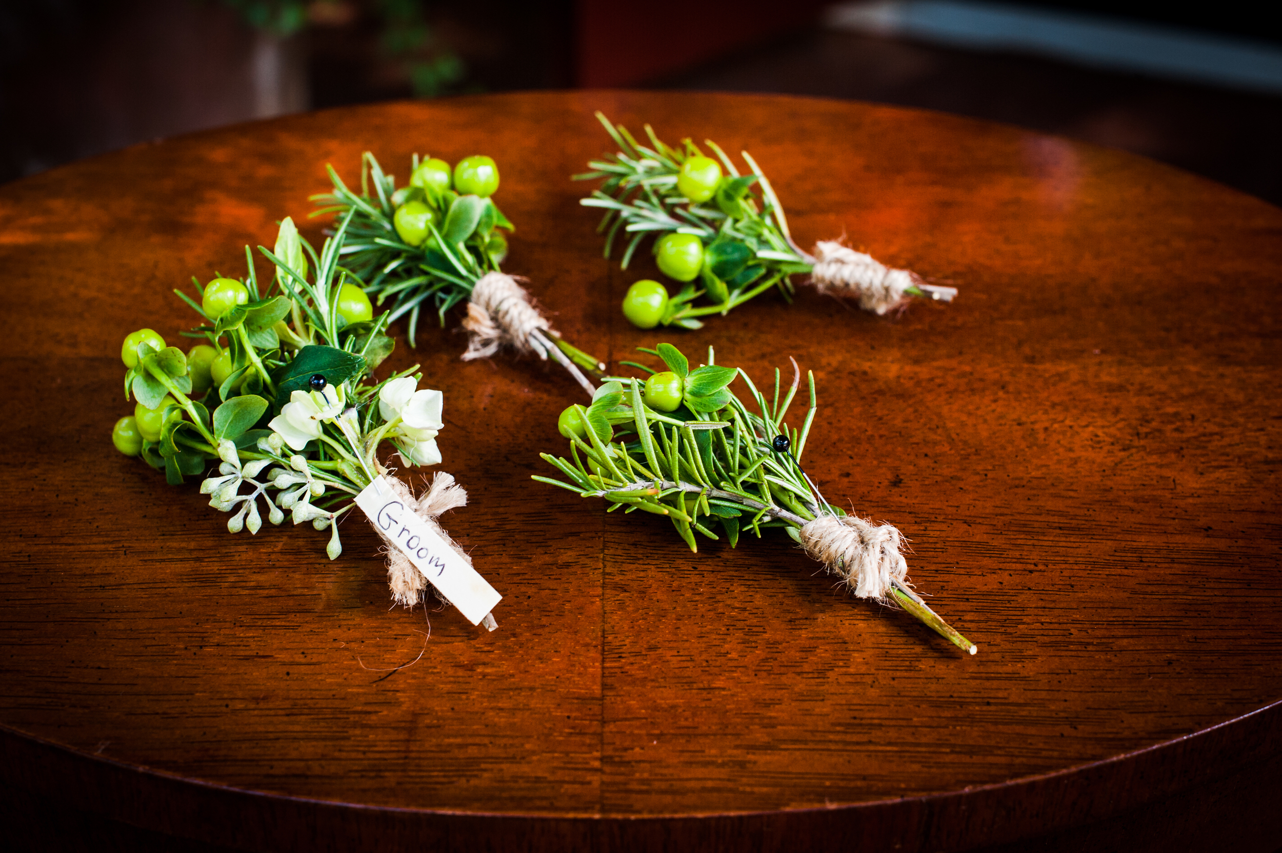 Lowcountry Wedding Boutonnieres