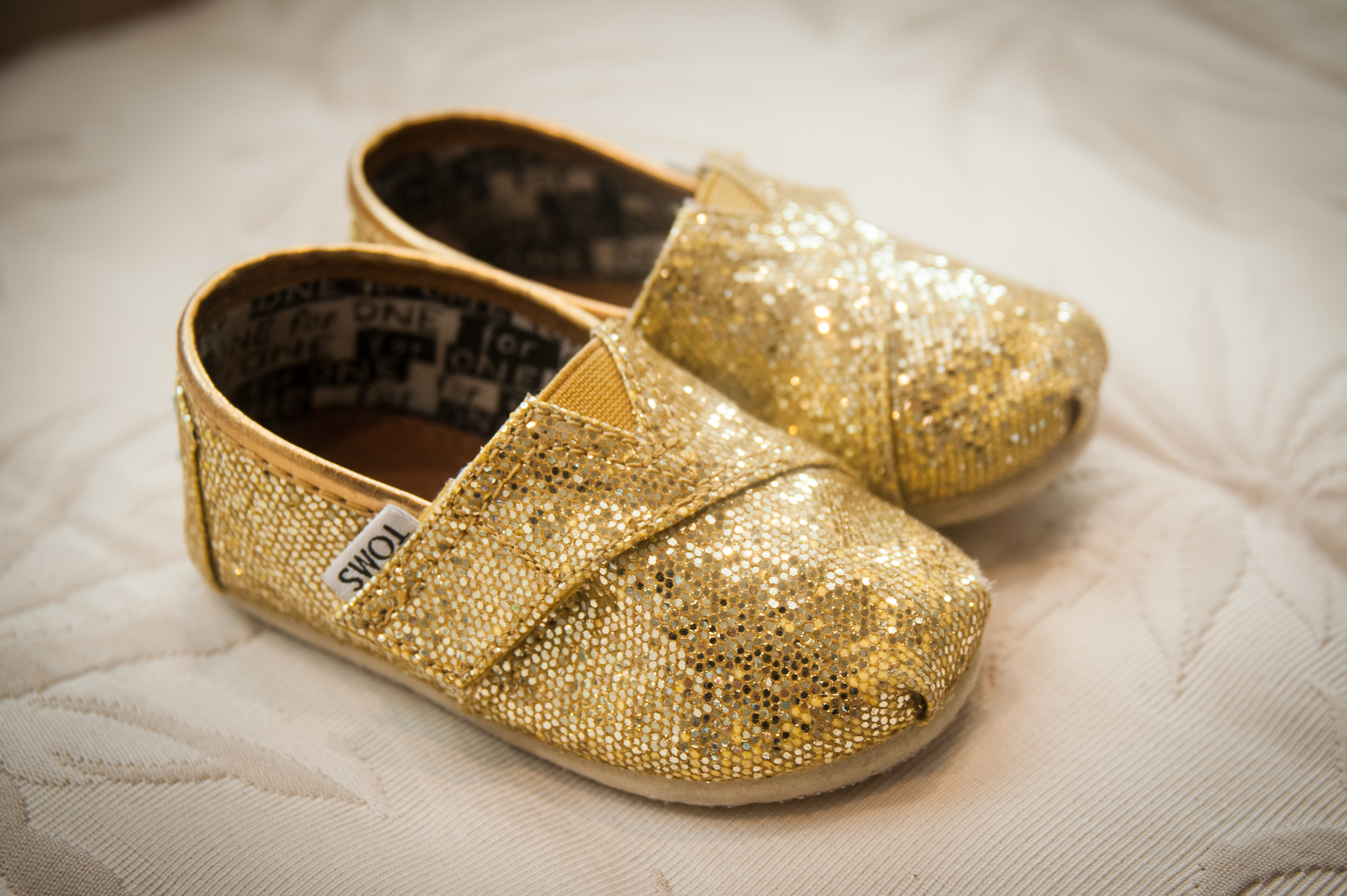 Gold TOMS for Kids