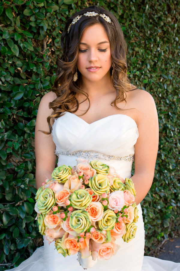 Palmetto Rose Bouquet at Savannah wedding