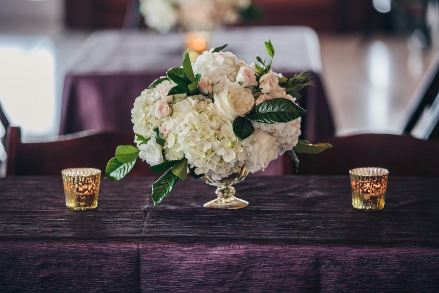 Purple and Gold Harborside East Wedding