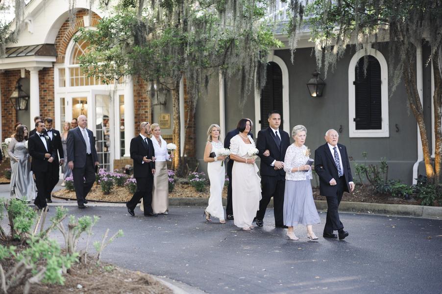 Wachesaw Plantation outdoor wedding ceremony