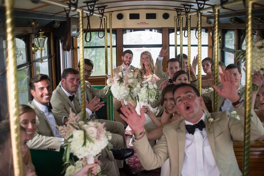 Charleston Wedding Trolley Ride by Absolutely Charleston