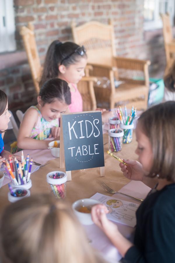 Charleston Wedding Kid's Table