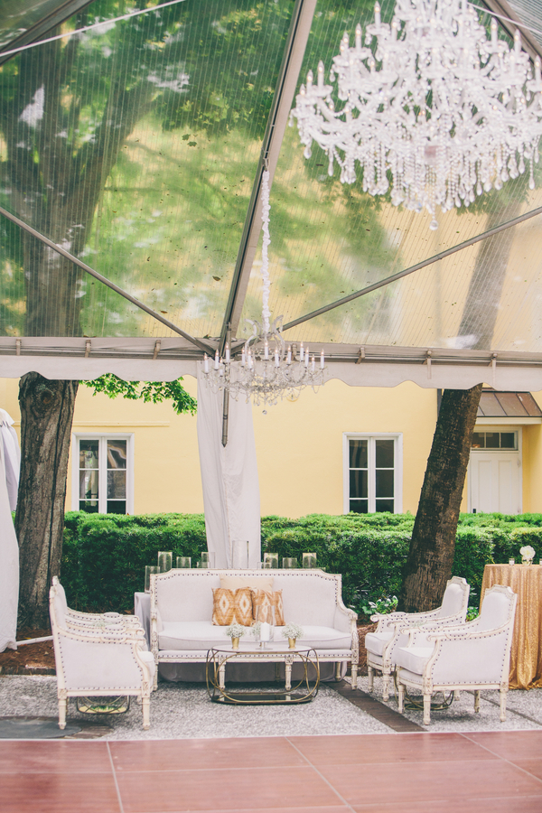 Pink & GoClear Tented reception at William Aiken House wedding