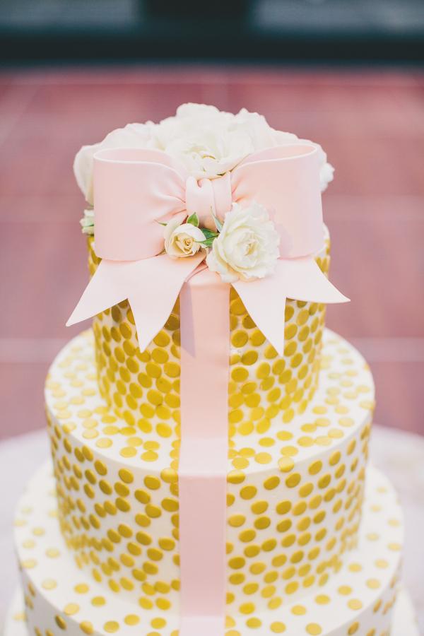 Gold Wedding Cake in Charleston, SC