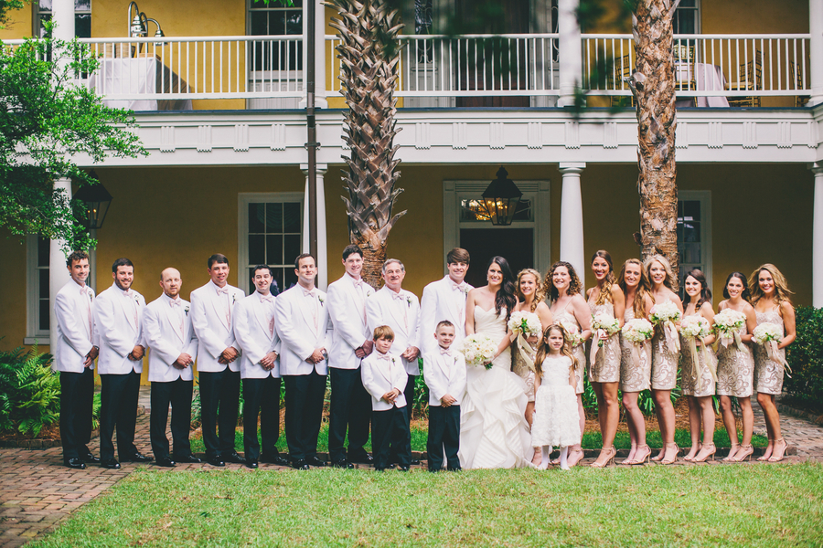Gold Bridesmaids dresses Charleston wedding