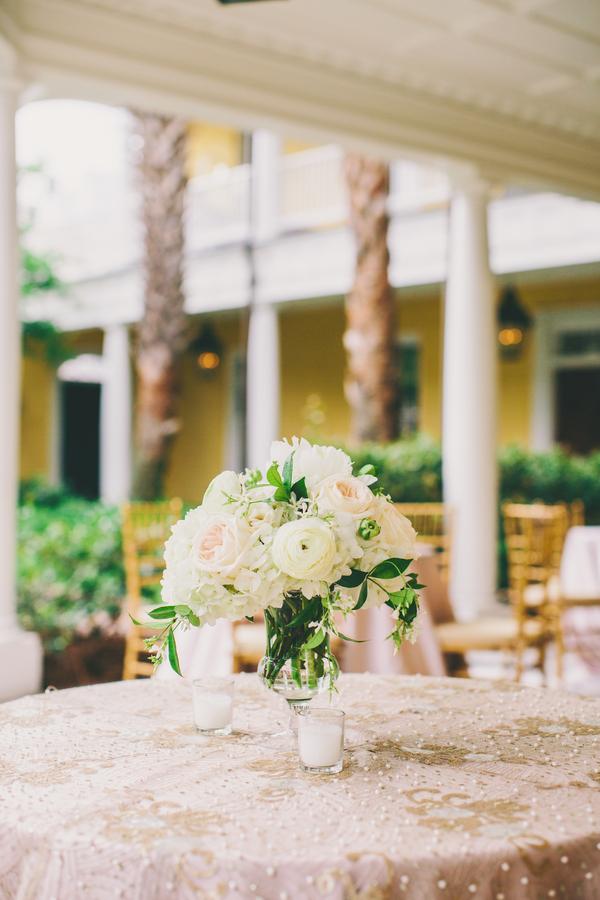Gold & Pink William Aiken House wedding