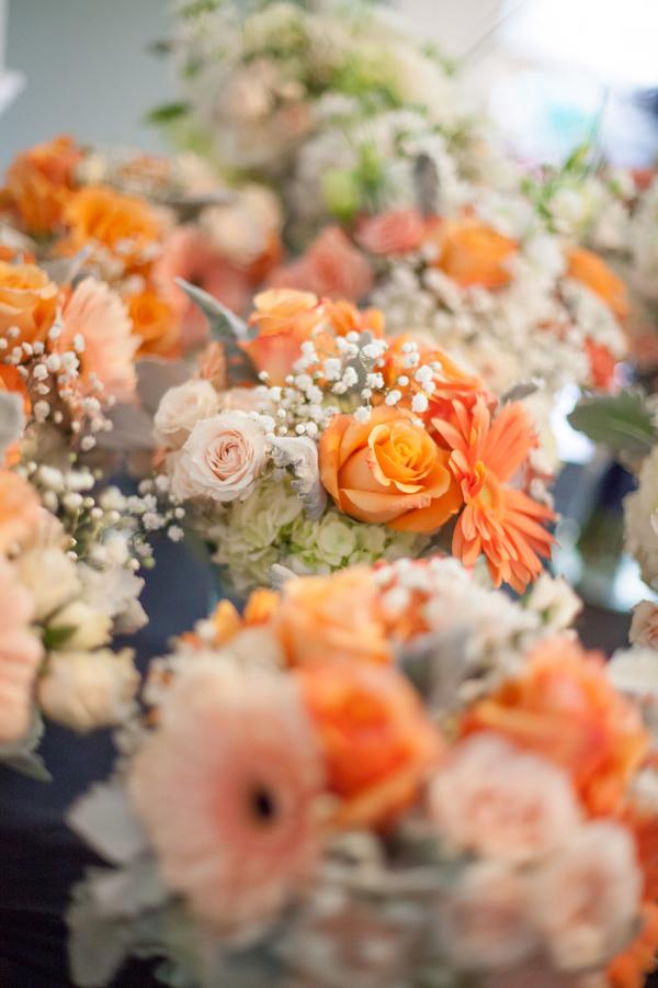 Blue & Orange Myrtle Beach Wedding