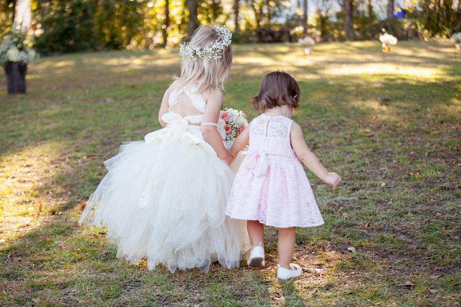 Flower girls at Myrtle Beach Wedding