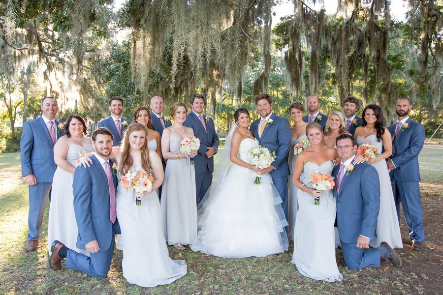 Myrtle Beach bridal party at Sunnyside Plantation wedding
