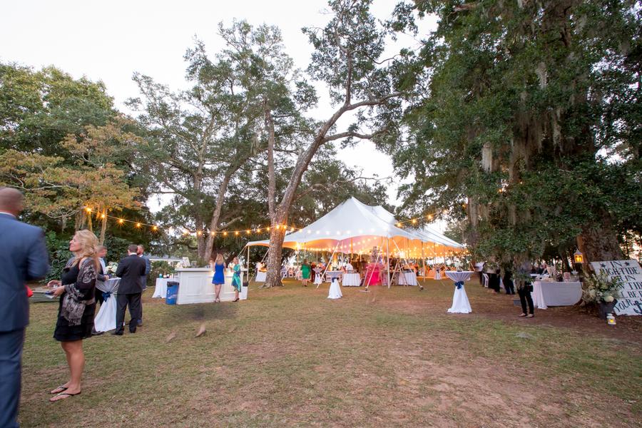 Outdoor tented reception at Sunnyside Plantation wedding
