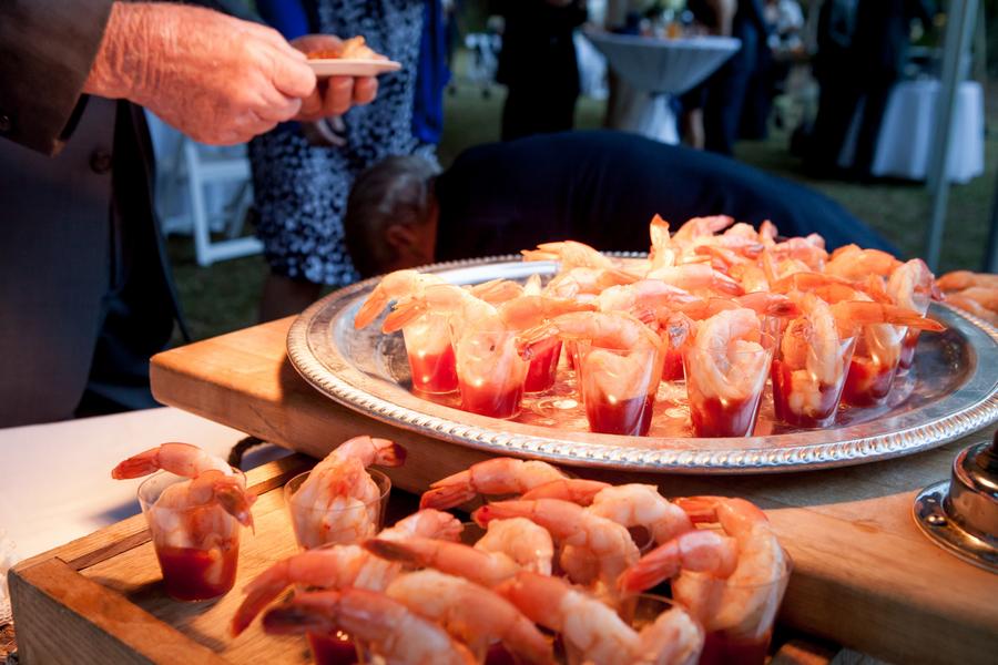 shrimp cocktail at Sunnyside Plantation wedding
