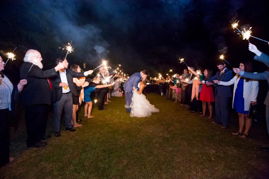 Sparkler Exit at Myrtle Beach wedding