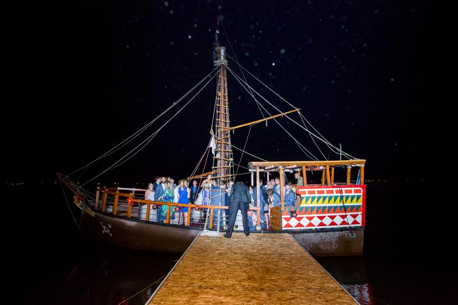 Pirates Ship at Sunnyside Plantation wedding