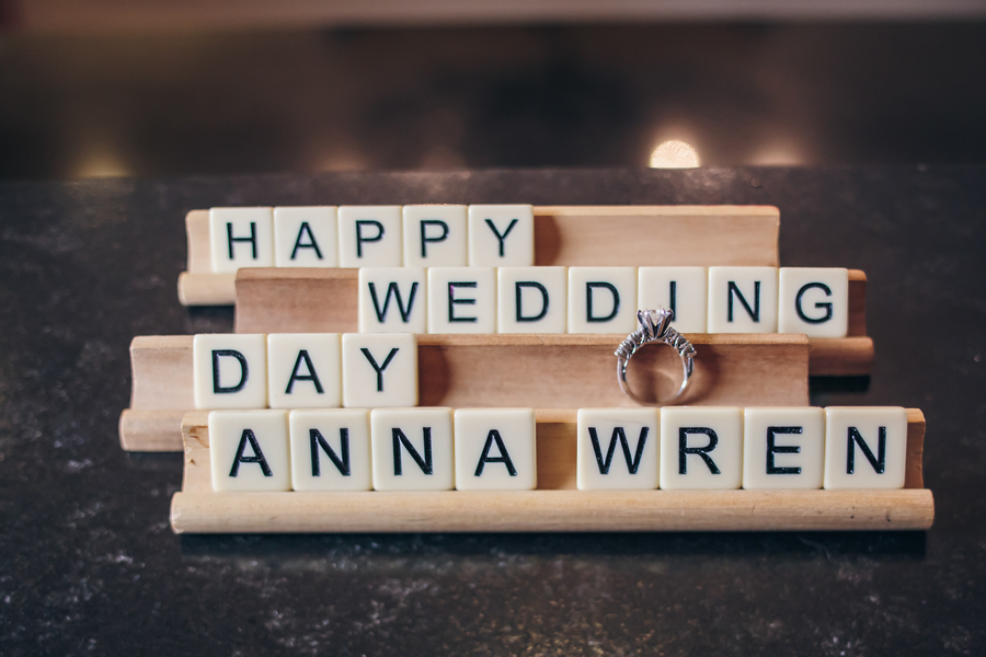Wedding scrabble letters