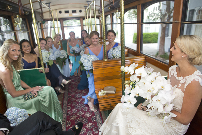 Charleston wedding trolley ride