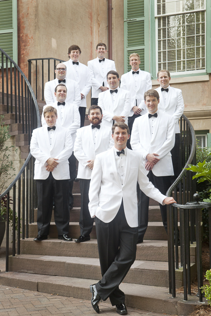 White Dinner Jackets - Bridal Party