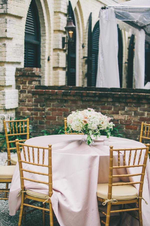Gold & pink wedding at William Aiken House in Charleston, SC