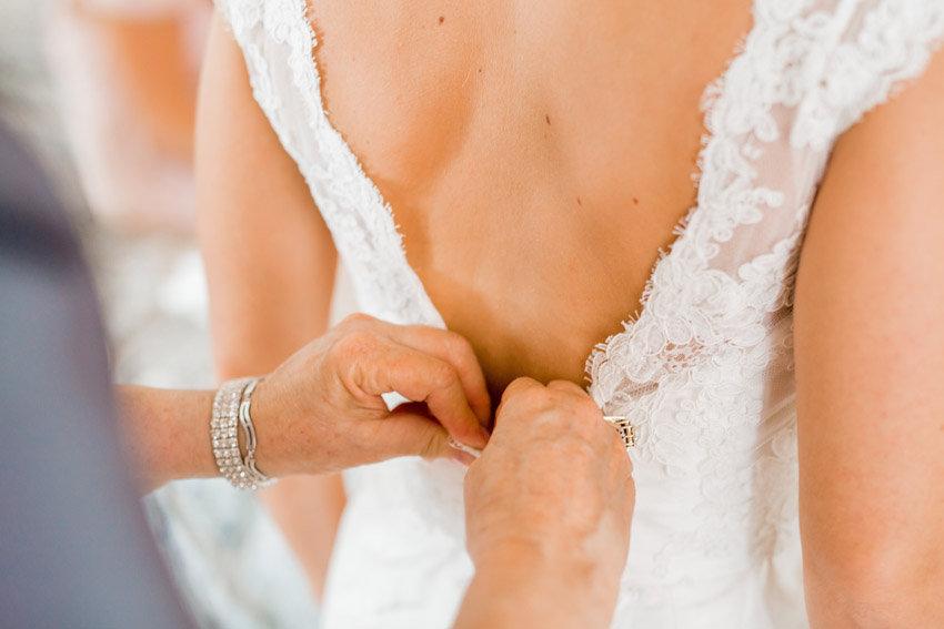 Paloma Blanca dress at Beaufort wedding