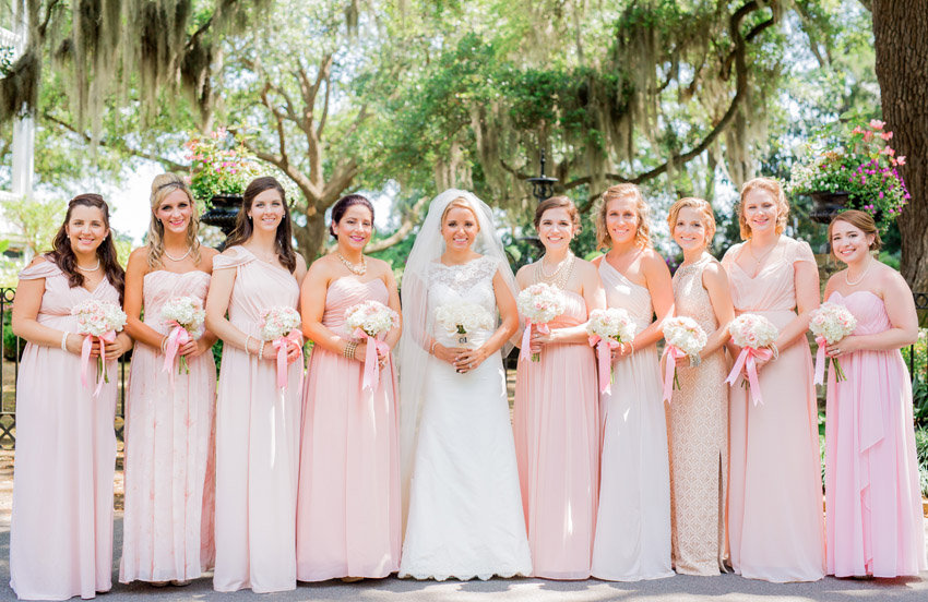 Pale Pink bridesmaids dress by Jessica Roberts Photography