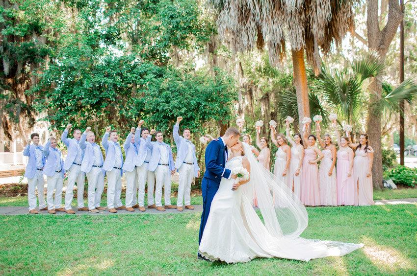 Military wedding in Beaufort, Sc