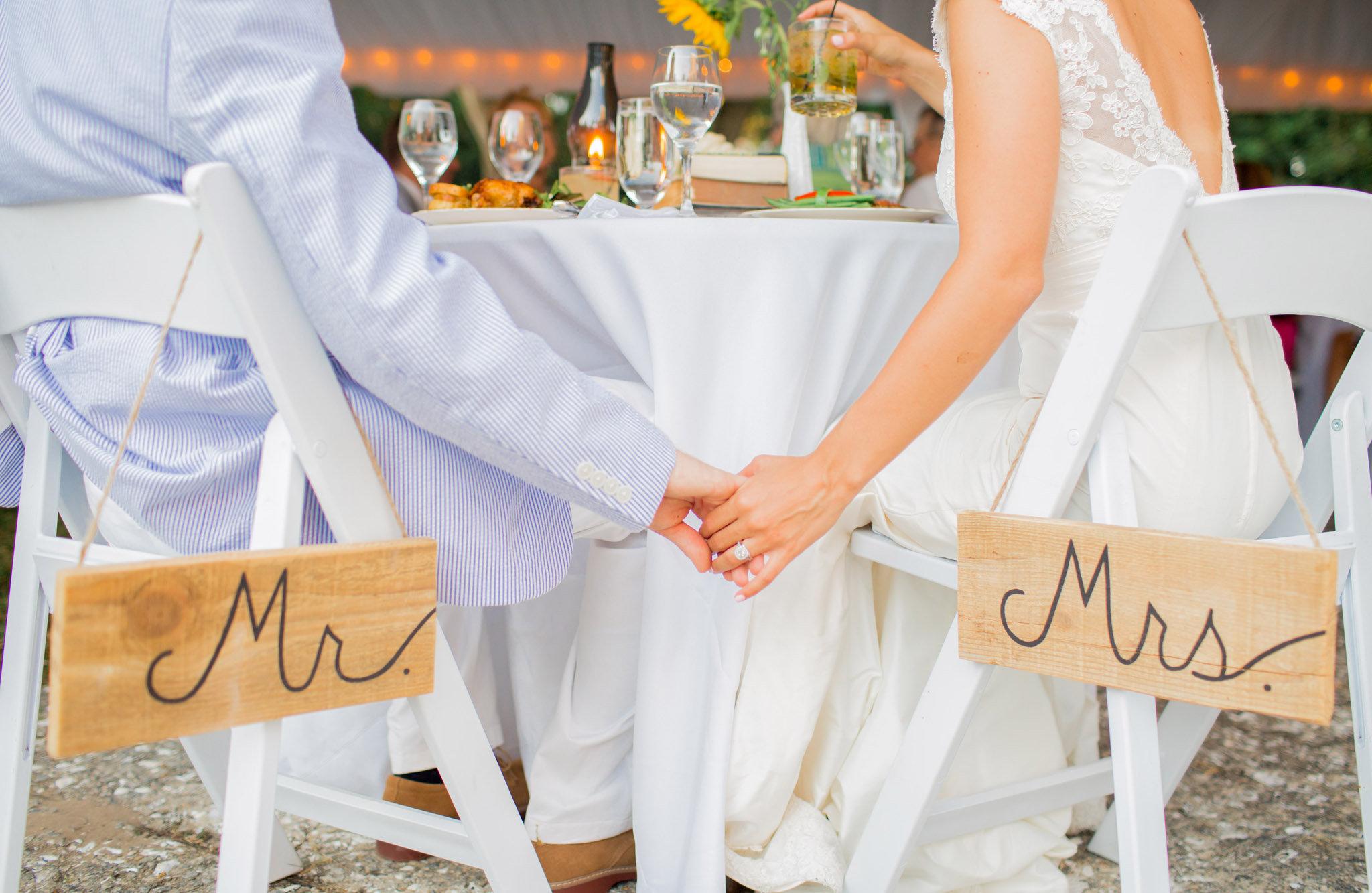 Seersucker wedding details in Beaufort, SC