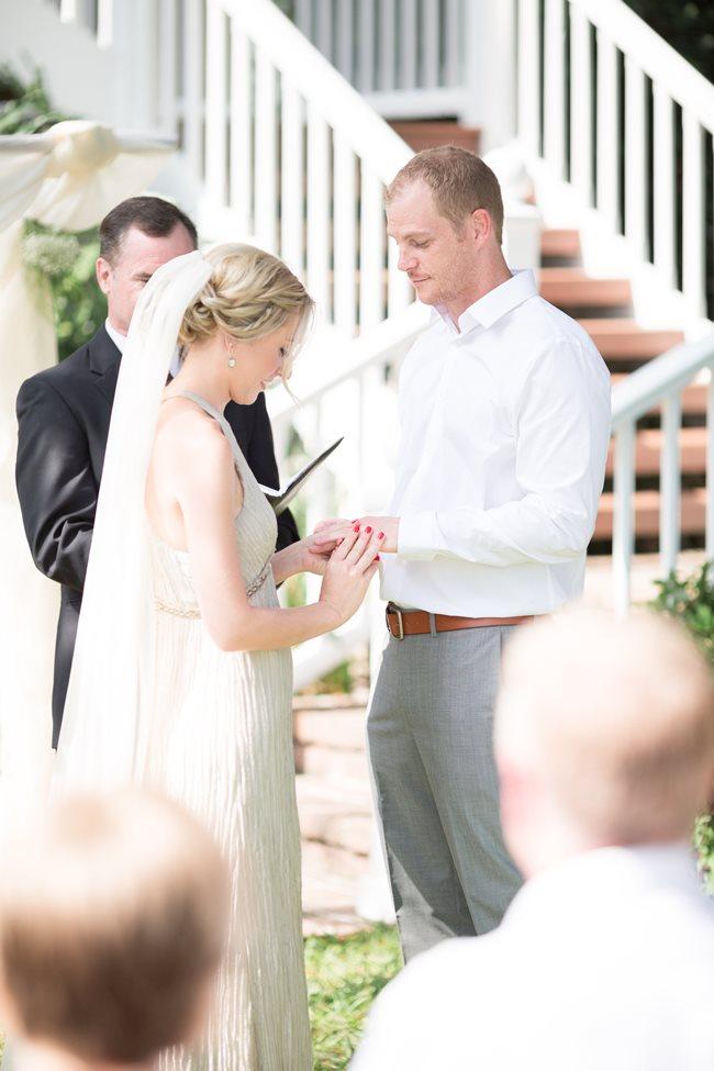 Savannah Wedding at Plantation Landing ceremony