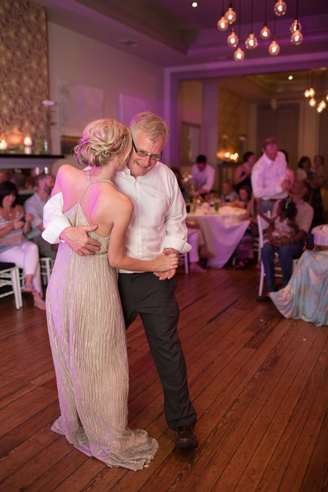 Father Daughter dance at 10 Downing Wedding reception by Lyndi J Photography